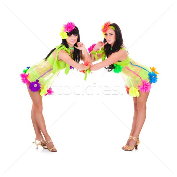 Twee sexy vrouw sexy meisjes geïsoleerd witte Stockfoto © stepstock