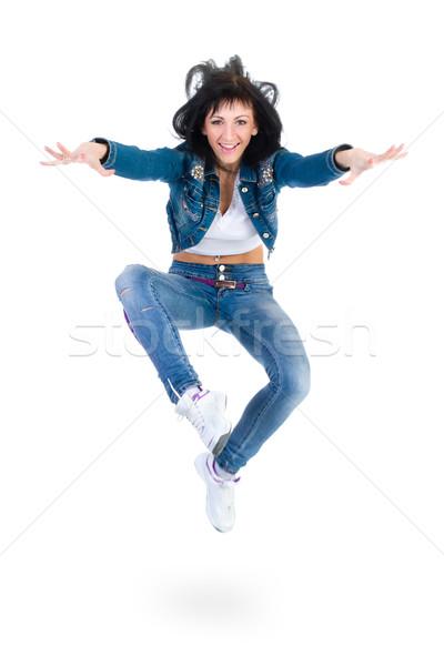 modern style dancer jumping on white Stock photo © stepstock