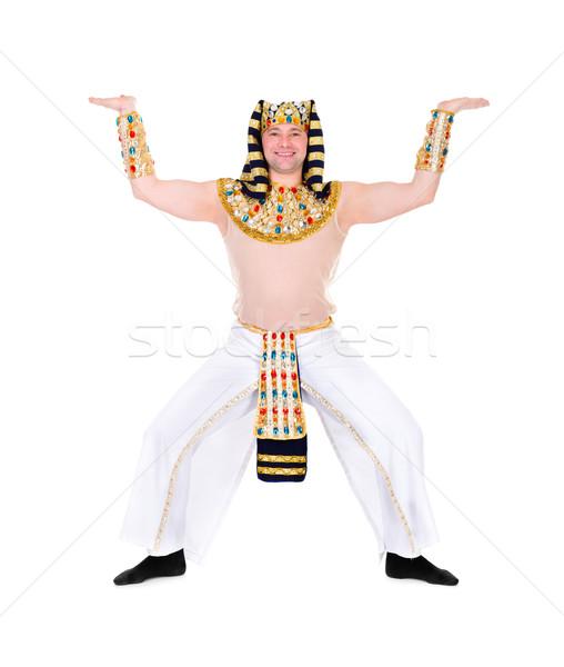 Taniec faraon egipcjanin kostium odizolowany Zdjęcia stock © stepstock