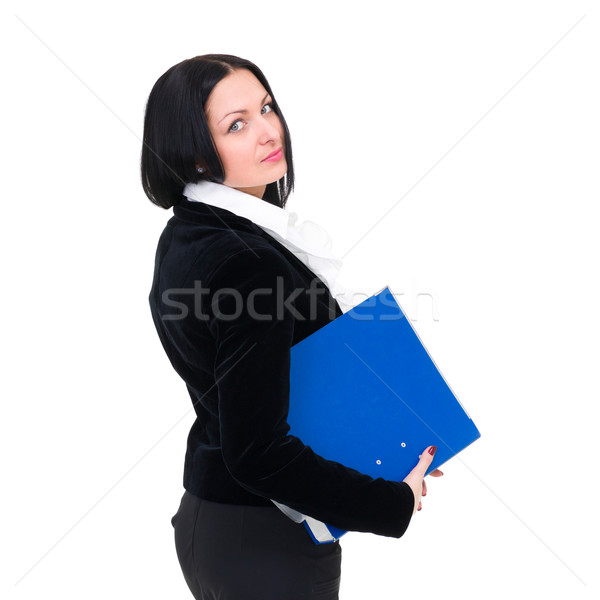 young businesswoman with folder Stock photo © stepstock