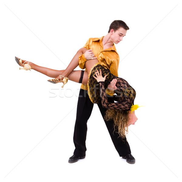 two young modern acrobats dancing Stock photo © stepstock