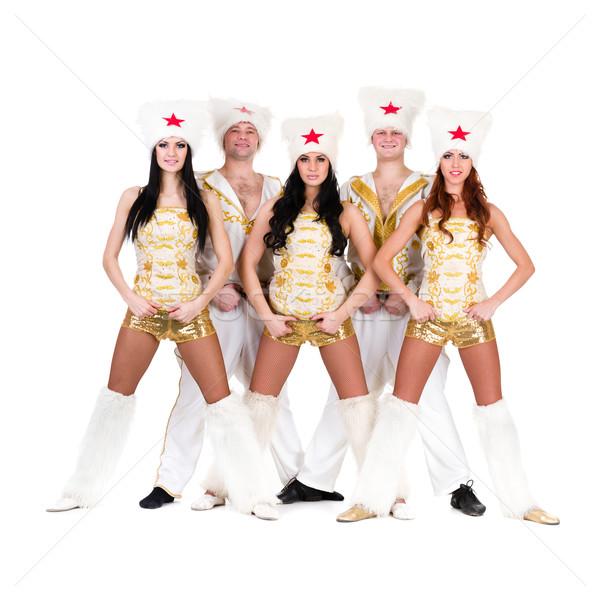 dancer team wearing a folk cossack costumes Stock photo © stepstock