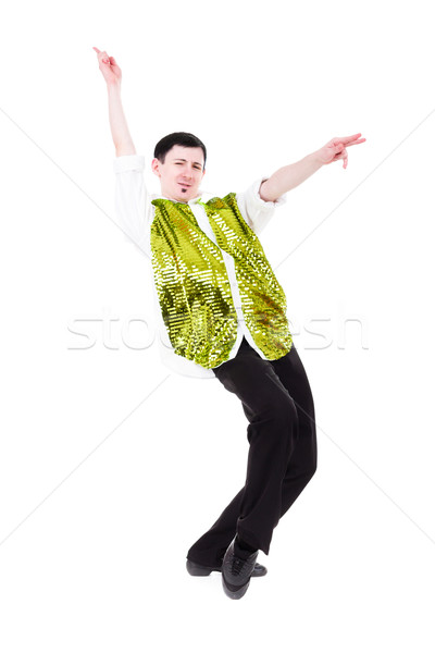 Disco dancer showing some movements Stock photo © stepstock