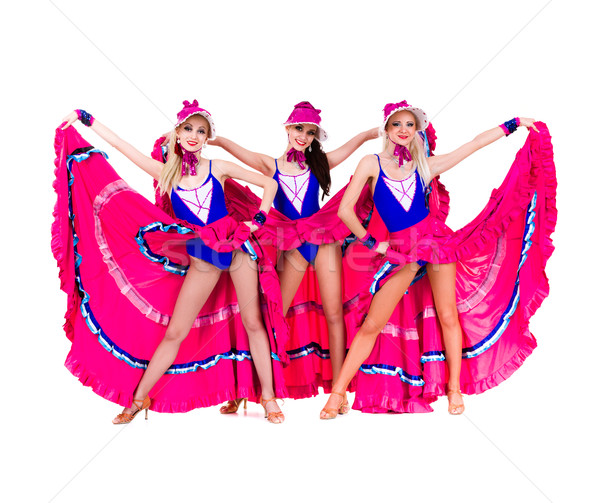 cabaret dancer girls dressed in vintage costumes Stock photo © stepstock