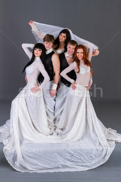 Actors in the wedding dress dancing. Stock photo © stepstock