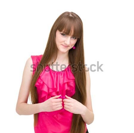 Smiling calm woman Stock photo © stepstock