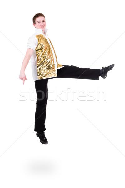 man dancer jumping Stock photo © stepstock