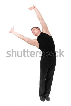 小さな 体操選手 ポーズ 白 手 フィットネス ストックフォト © stepstock
