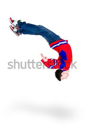 man dancer jumping flip Stock photo © stepstock