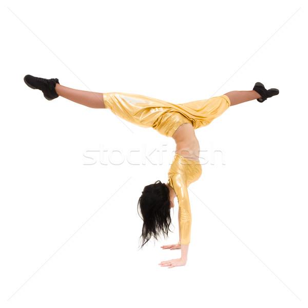Nő izolált fehér lány divat modell Stock fotó © stepstock