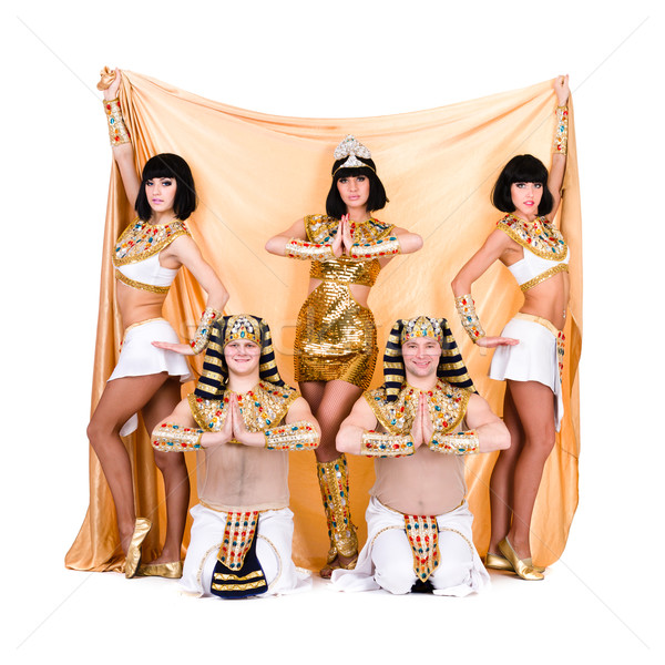 dancers dressed in Egyptian costumes posing Stock photo © stepstock