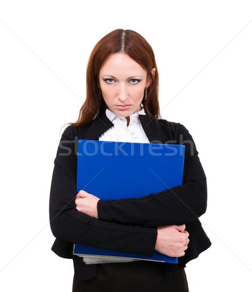 Zangado empresária isolado imagem mulher de negócios chateado Foto stock © stepstock
