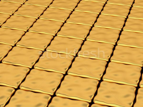 Oro deformata abstract luminoso texture Foto d'archivio © stepstock