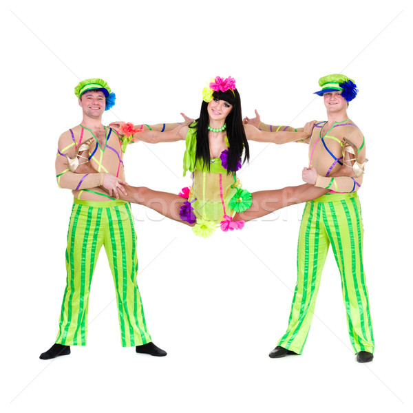 acrobat carnival dancers doing splits Stock photo © stepstock
