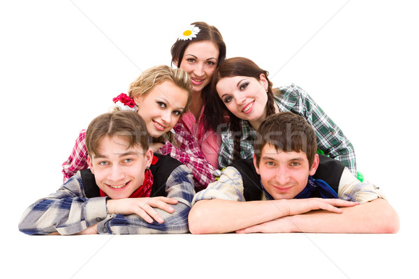 happy group of friends smiling Stock photo © stepstock