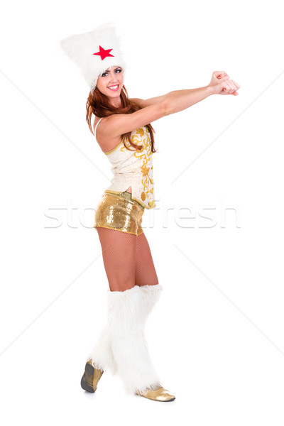 woman cossack dancer dressed in stylish costume Stock photo © stepstock