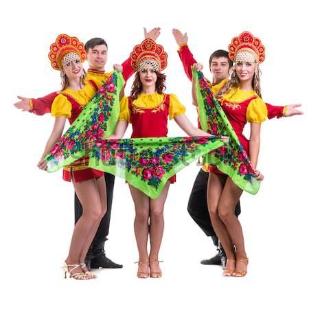 Three sexy carnival dancers posing Stock photo © stepstock