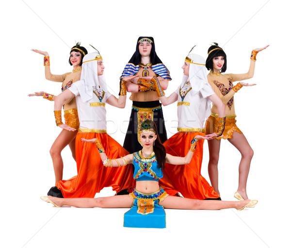 Ballerini egiziano costumi posa dance squadra Foto d'archivio © stepstock