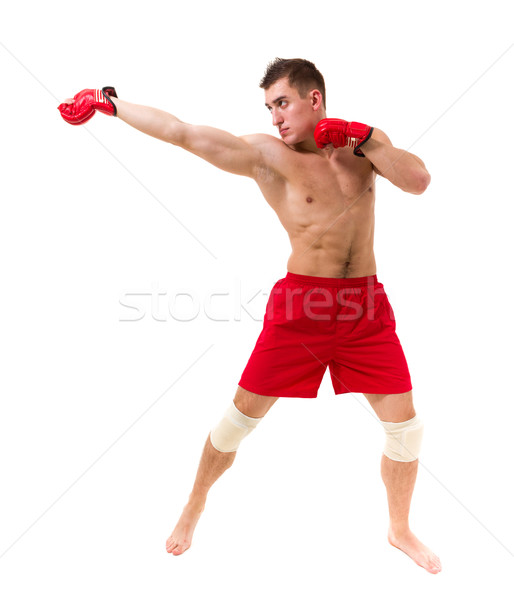 fighter exercising Stock photo © stepstock