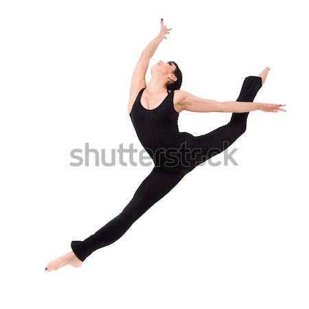 Akrobata ugrik nő izolált fehér divat Stock fotó © stepstock