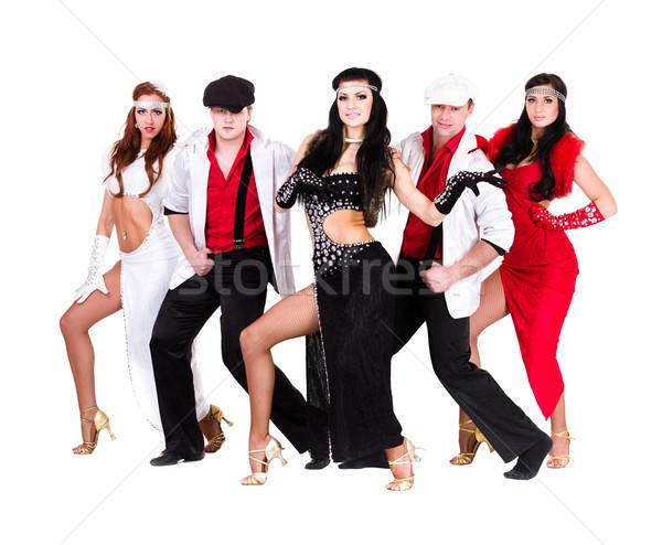 cabaret dancer team dressed in vintage costumes Stock photo © stepstock