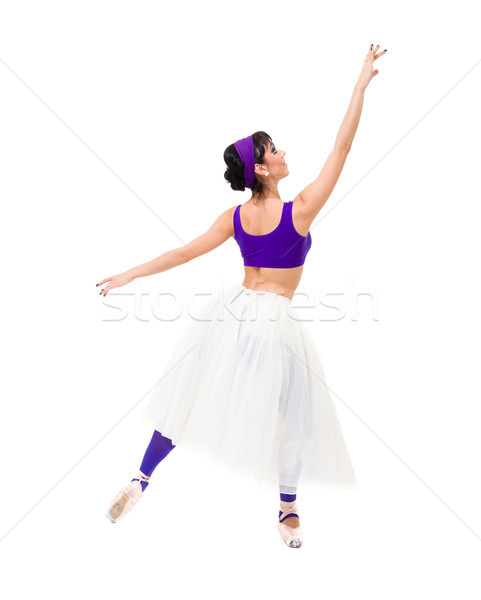 Full length of young ballerina posing Stock photo © stepstock