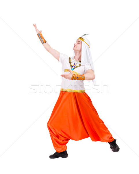 Wskazując faraon egipcjanin kostium odizolowany Zdjęcia stock © stepstock