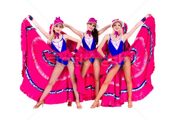 cabaret dancer girls dressed in vintage costumes Stock photo © stepstock