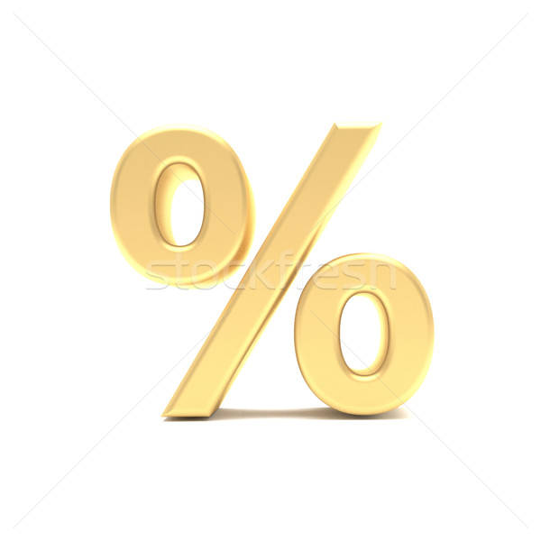 gold 3d percent sign Stock photo © stepstock