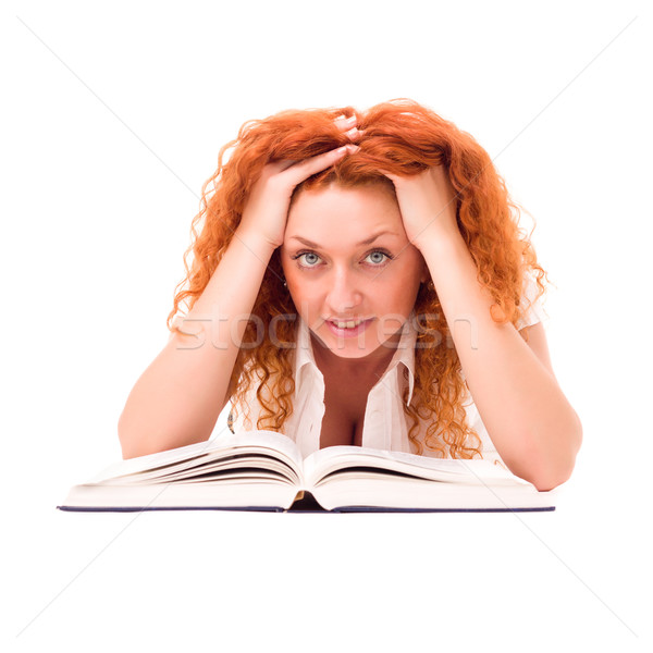Young woman with a book Stock photo © stepstock