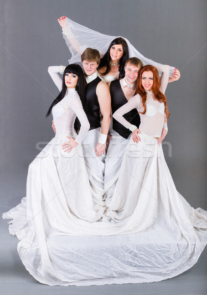 Actors in the wedding dress posing. Stock photo © stepstock
