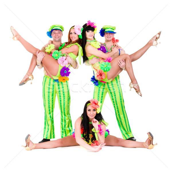 Dançarina equipe dança isolado Foto stock © stepstock