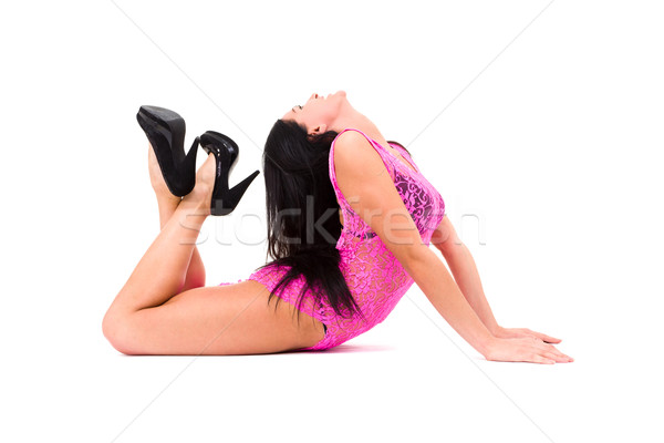 Young acrobat woman posing Stock photo © stepstock