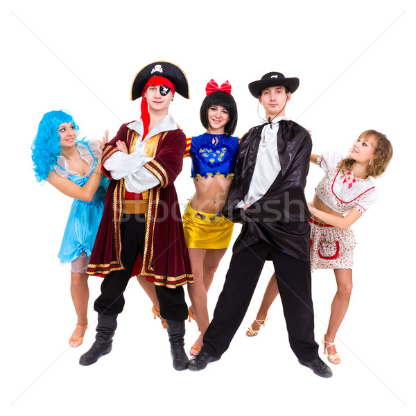 Dancers in carnival costumes posing Stock photo © stepstock