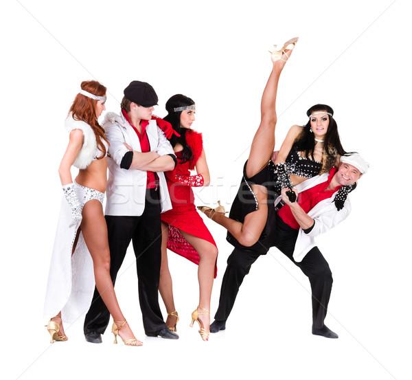 キャバレー ダンサー チーム ヴィンテージ ダンス ストックフォト © stepstock