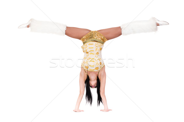 young athlete woman doing stretching exercise Stock photo © stepstock