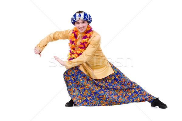Homem ioga exercer indicação gesto isolado Foto stock © stepstock