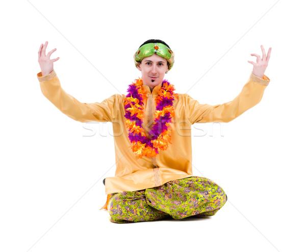 man doing yoga exercises Stock photo © stepstock