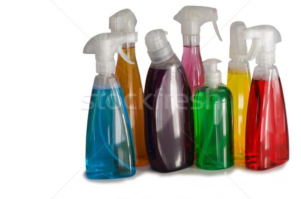 Czyszczenia butelek domu pracy domu zdrowia Zdjęcia stock © stickasa