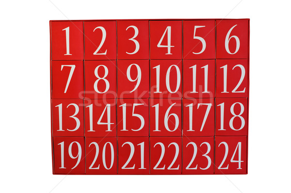 Advent calendar isolated on white Stock photo © stickasa