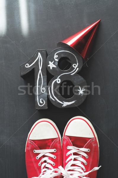Zdjęcia stock: Urodziny · urodziny · strony · trawy · moda