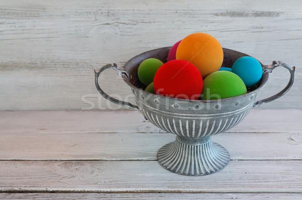 Kolorowy puchar metal zimą niebieski Zdjęcia stock © stickasa