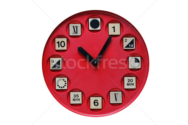 Clock for Tell the Time Learning Stock photo © stickasa