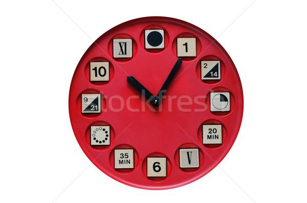 Zdjęcia stock: Zegar · czasu · nauki · dzieci · zabawy · zabawki