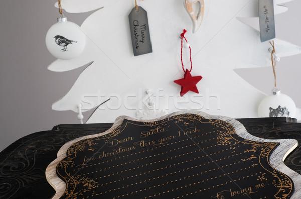 Dear Santa - Merry Christmas Stock photo © stickasa