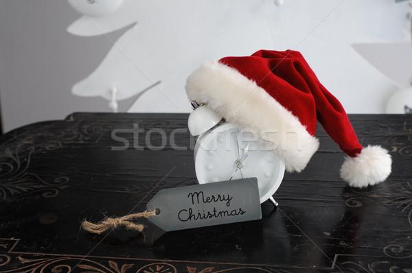 Czeka christmas odliczanie zegar czasu obecnej Zdjęcia stock © stickasa