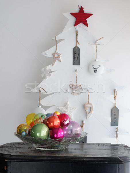Zdjęcia stock: Kolorowy · christmas · drzewo · zielone