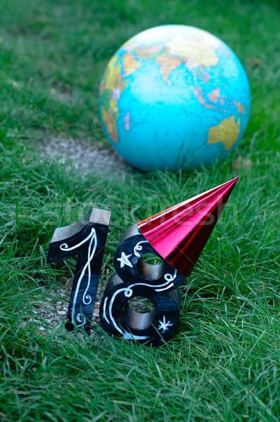 Aniversário estudar no exterior mar mundo Foto stock © stickasa