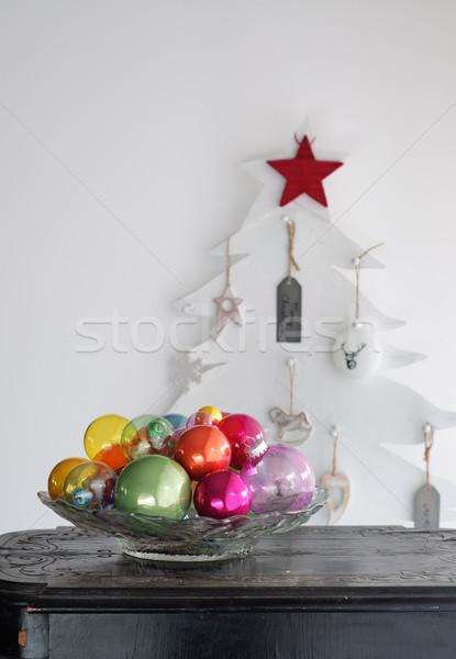 Colorful Christmas Balls - Christmas Interior Decoration Stock photo © stickasa