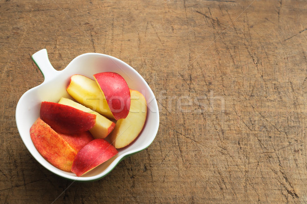 Zdjęcia stock: Jabłko · plastry · formularza · puchar · żywności · metal